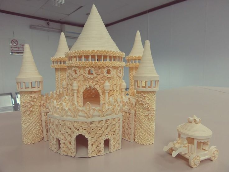 Made by Stephanie Magno Sanchez Lano- 3D quilled architecture (Searched by Châu Khang)