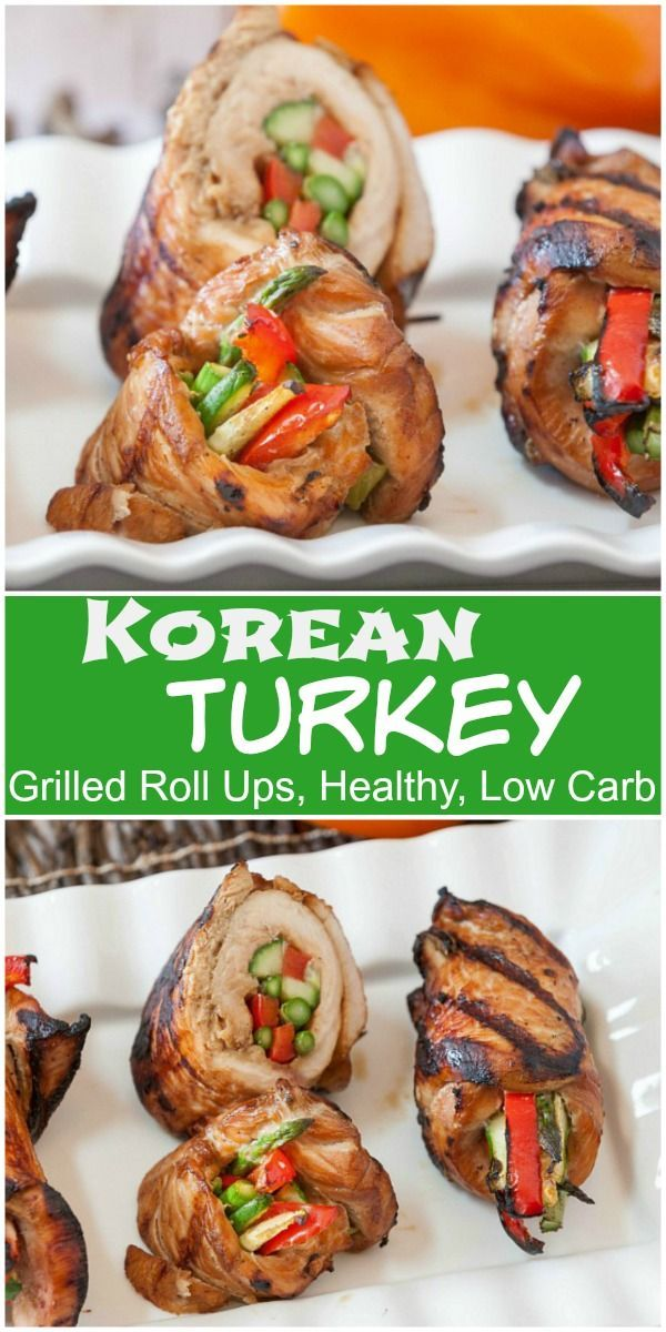 Grilled Korean Turkey Roll Ups - Low Carb, Gluten Free