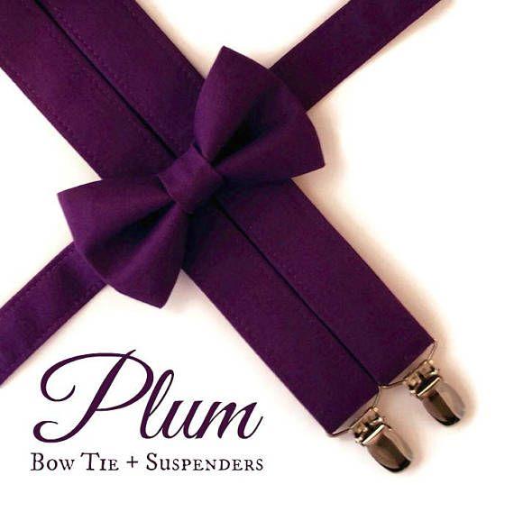 Plum Bow Tie and Suspenders: Purple Suspenders Toddler
