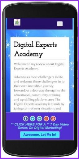The Susan Lewis Marketing review of Digital Experts Academy by Susan Lewis. Also known as nee: Susan Connor and cve4me