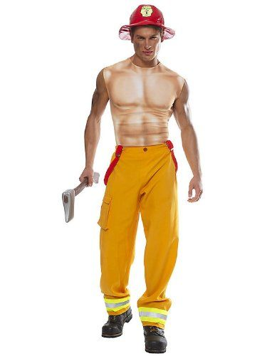 Sexy Fireman Halloween Costumes for Men and Women