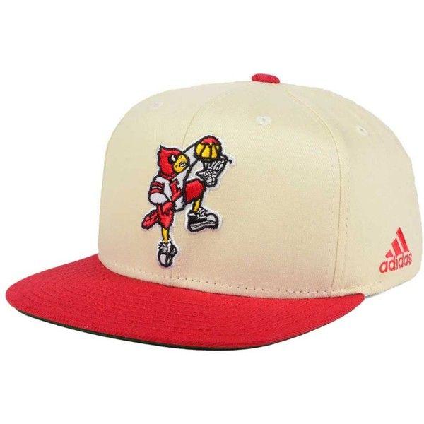 adidas Louisville Cardinals Hardwood Classic Snapback Cap (90.800 COP) ❤ liked on Polyvore featuring men's fashion, men's accessories, men's hats, mens caps and hats, mens snapback hats and men's brimmed hats
