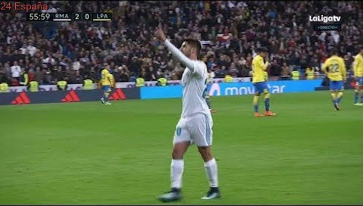 Marco Asensio Gol Goal Real Madrid vs Las Palmas 2-0 2017 720pHD GOLAZO