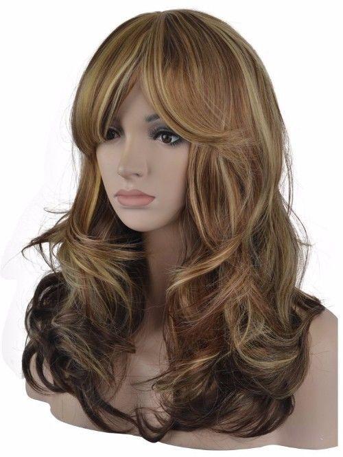 Melania Trump Wig Theatre Long Wavy Brown Blonde Cosplay Costume Accessories   | eBay