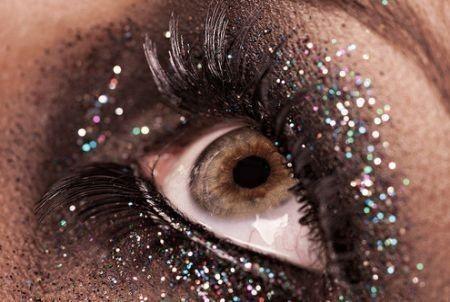 Trucco Nero Glitter Argento