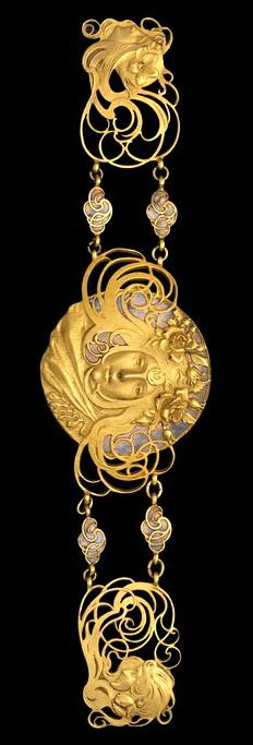Piel Frères (French , 1855 - 1925). Belt 1899 / 1900 - silver, enamel, gilding.   Virginia Museum of Fine Arts Art Nouveau!