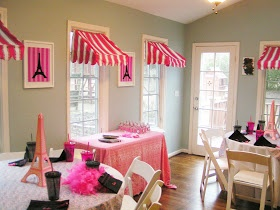 Paris spa party for the night before the wedding, or a good idea for a good bridal shower without the pairs theme.