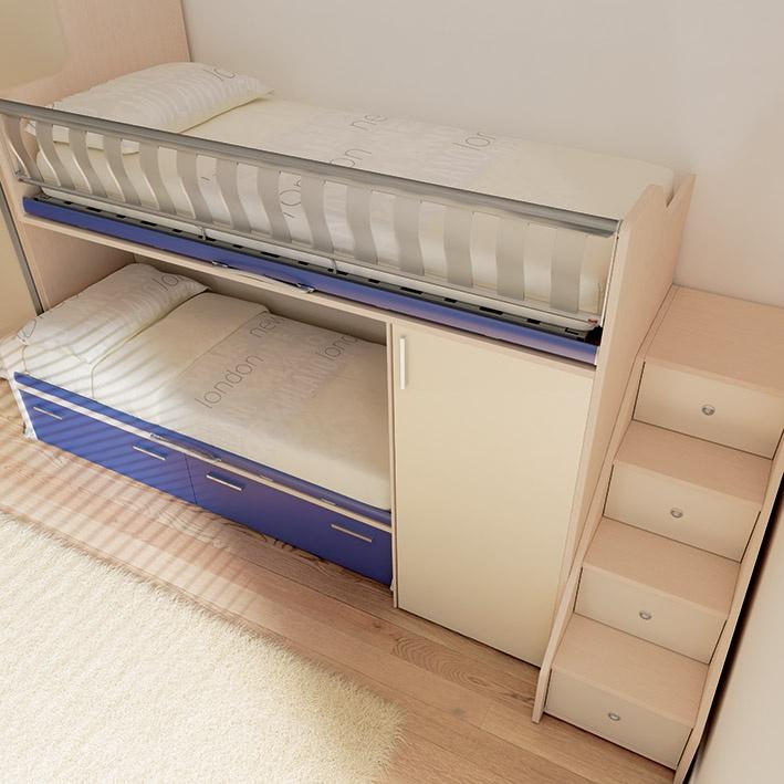 Oltre 25 fantastiche idee su letti a soppalco per bambini - Camerette bambini legno naturale ...