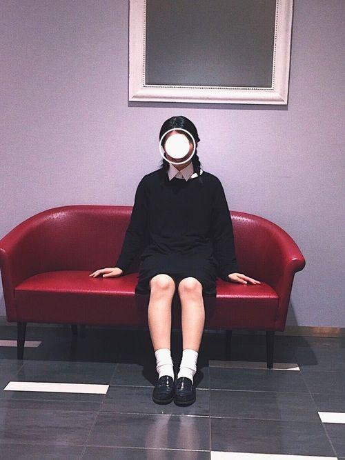 🥀Halloween🥀 アダムスファミリーの ウェンズデイ・アダムスの仮装✌︎ ユニクロのパジャ