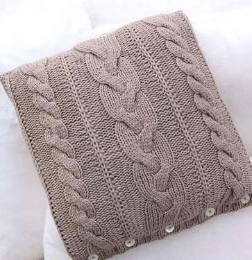Схемы для вязания подушки