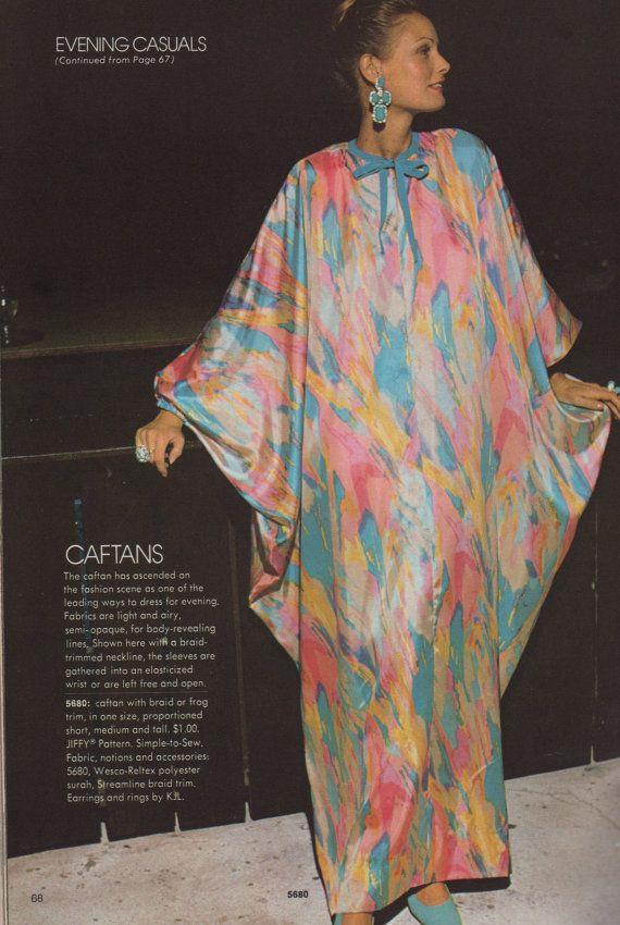 Simplicity 5680 1970s Misses Easy Caftan Pattern