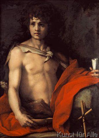 Andrea del Sarto - Johannes der Täufer als Jüngling in der Wüste
