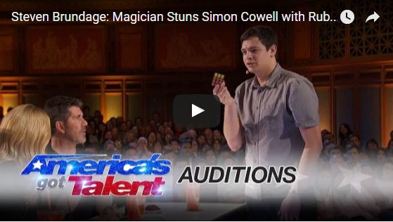 Watch: Steven Brundage a Magician Stuns Simon Cowell with Rubik's Cube Tricks in AGT 2016 ~ ZK Buzy Buzz