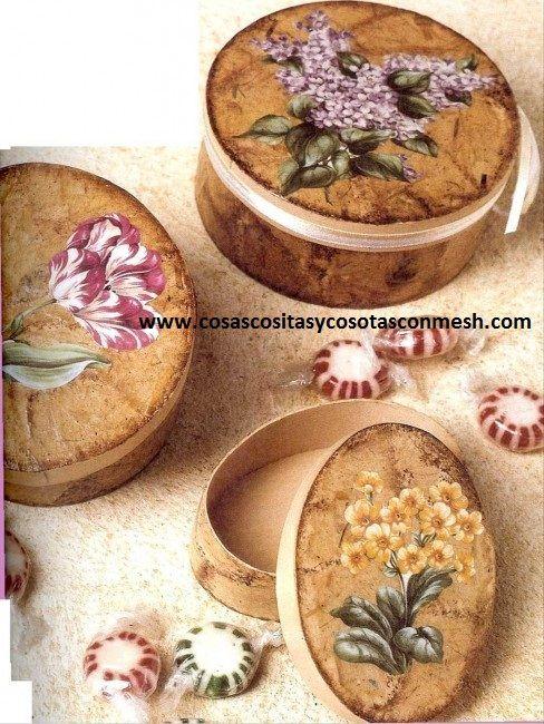 Cajas decoradas con papel : cositasconmesh