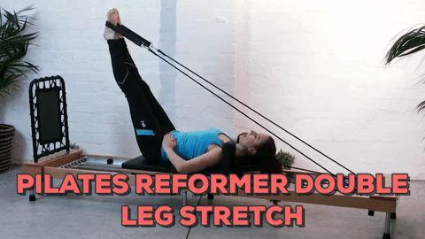 Pilates Reformer Double Leg Stretch Exercise