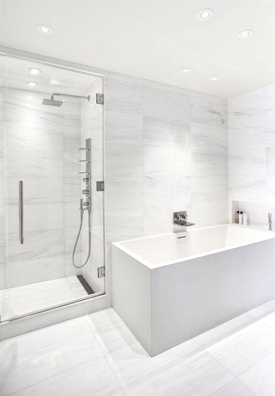 140 Charles Street Nyc New York Bathroom Newyork Design Modernbathroom Desain Kamar Mandi Modern Desain Interior Kamar Mandi Kamar Mandi Putih
