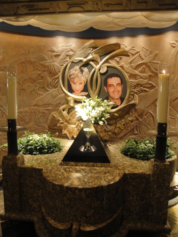 Princess Diana and Dodi Al Fayed memorial at Harrods