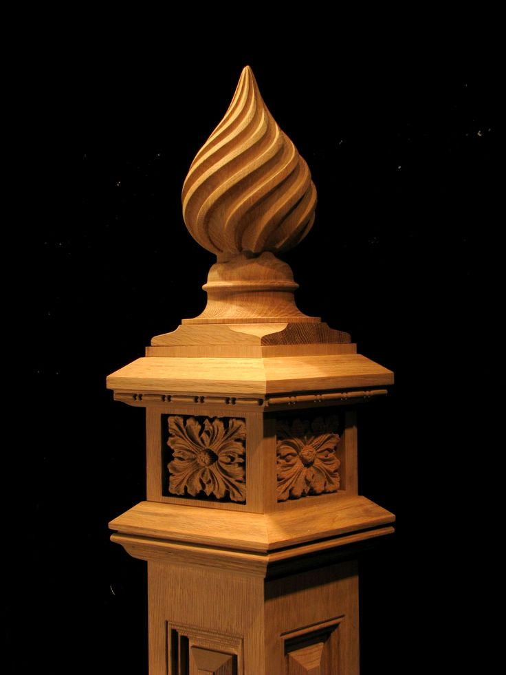 Twist Wood Columns : Wood carved twist finial woodwork pinterest trappor