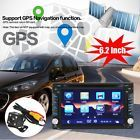 """6.2"""" GPS Double 2 DIN In Dash Car Stereo DVD Player USB Bluetooth IPOD TV Radio"""