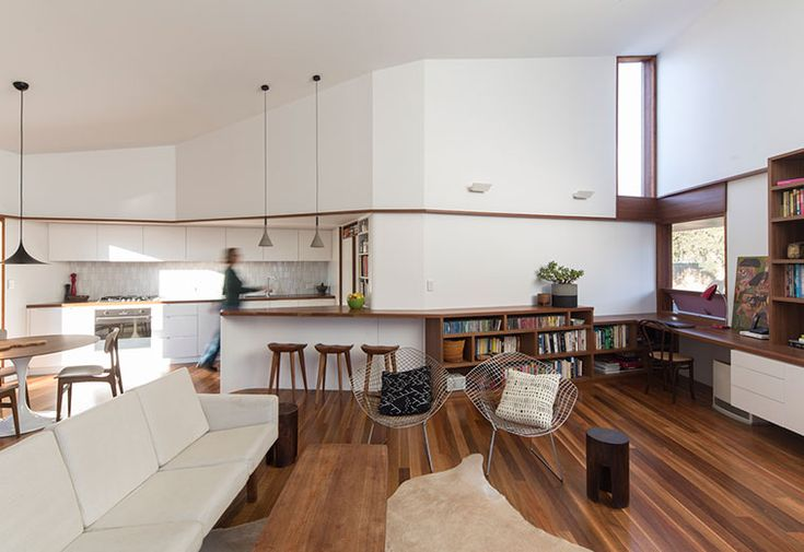 "This new house is part of the ""3 HOUSES MARRICKVILLE"" project which included the subdivision of a corner block into 3 Torrens title allotments, construction of a new house and conversion of an existing house into 2 semi detached houses, which received the 2015 Marrickville..."