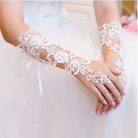 bruiloft handschoenen Vingerloze handschoenen kant door Coverfront