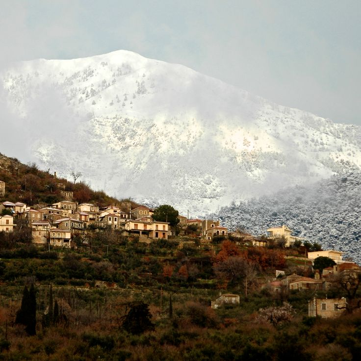 Winter view of higher villages