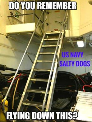 IF YOU ARE TIN CAN SAILOR YOU SHOULD REMEMBER SLIDING UP!! LOL