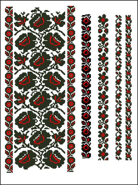 Схема вишивки хрестиком.