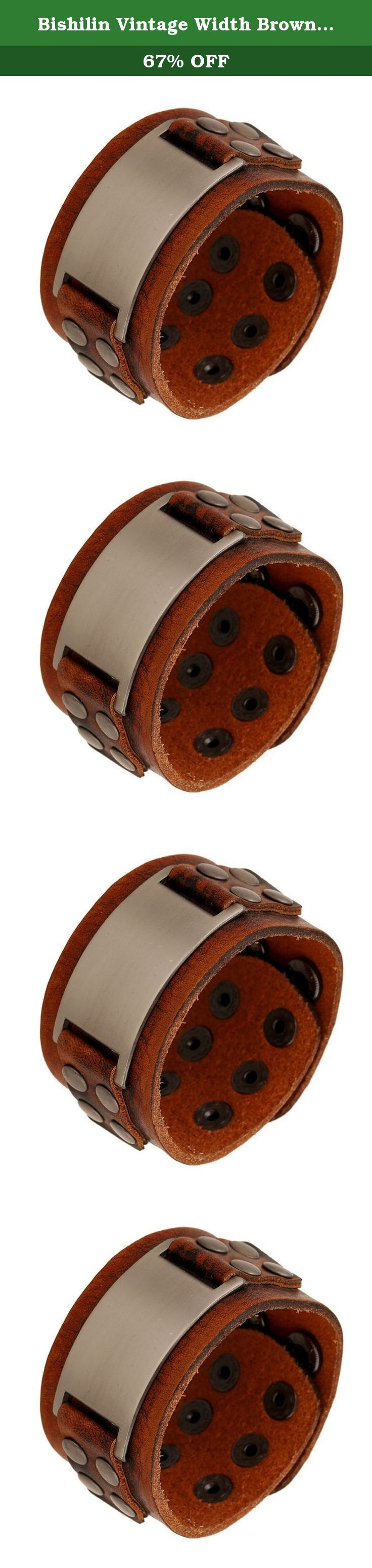 Bishilin Vintage Width Brown Leather Cuff Wrap Bangle Bracelets. Shipping: 1. Item will be shipped out within 3 days after payment is received. If you have other request, please contact us in 24 hours when clear payment. 2. Order will be shipped to you by the address which your leave on Amazon. Please make sure you address is right. 3. If you do not receive your order after Estimated Delivery Date, please contact us. We will track the shipment and get back to you as soon as possible with…