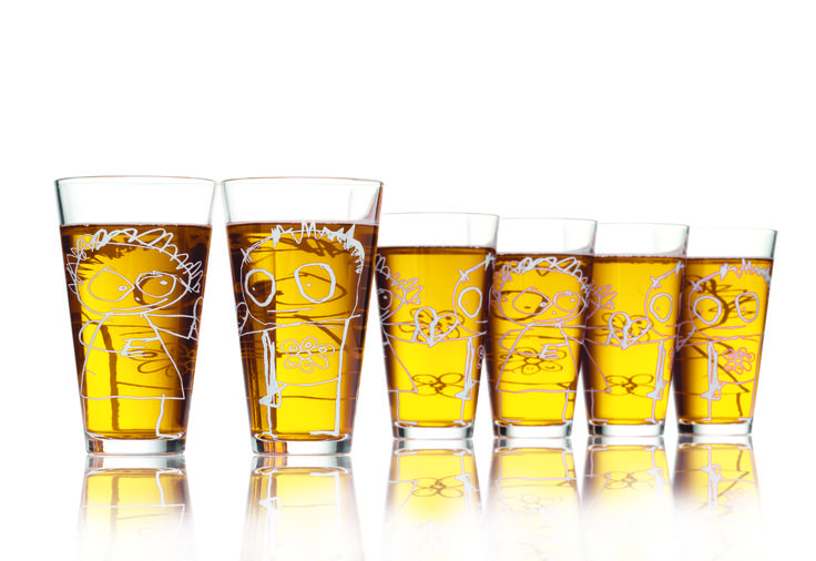Poul Pava Drinking Glass 6pc 360ml in Gift box. Available from www.livin.co.za