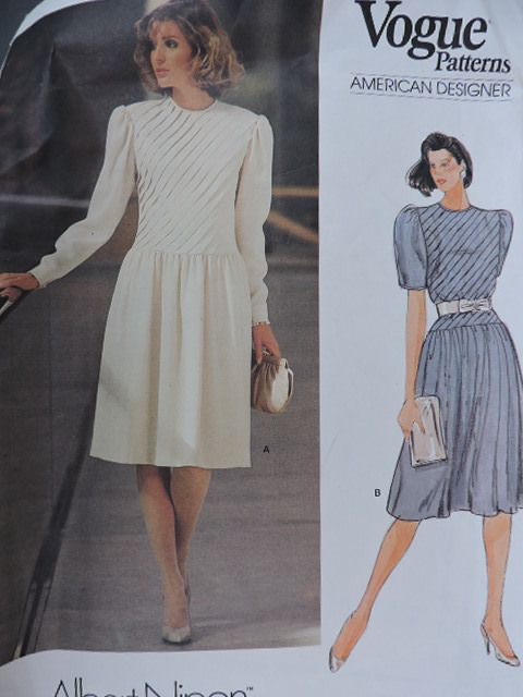 SeeSallySew.com - Albert Nipon American Designer Vogue 1301 Fashion Pattern Sz. 16, $12.00 (http://stores.seesallysew.com/albert-nipon-american-designer-vogue-1301-fashion-pattern-sz-16/)