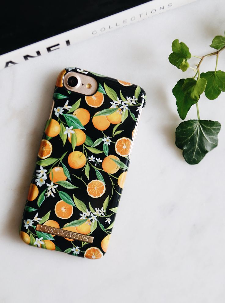 Tropical Fall by lovely @rebfre - Fashion case phone cases iphone inspiration iDeal of Sweden #oranges #apelsiner #fruit #gold #leaf #fashion #inspo #iphone