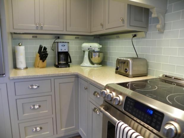 Painted Inset Cabinets In U0027Vinyardu0027 By Holiday Kitchens, Featuring Angle  Power Strip,