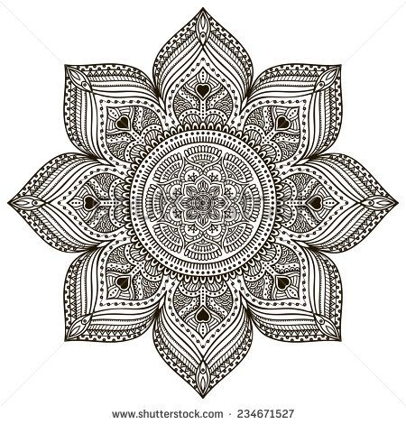 Stock Images similar to ID 103161836 - ornamental round floral pattern....: