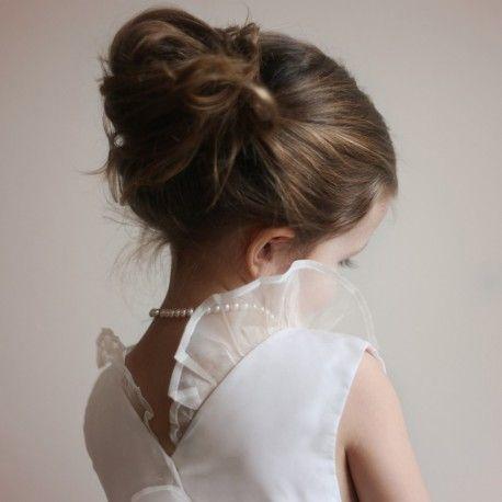 Chloe silk organza junior bridesmaid dress little eglantine- designer flower girl dresses UK