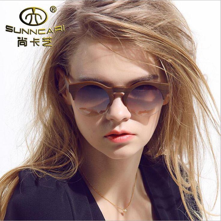 SUNNCARI Sunglasses For Women Vintage Women's Gradient Glasses Sunglasses Oculos De Sol Women Brand Designer Eyewear UV400