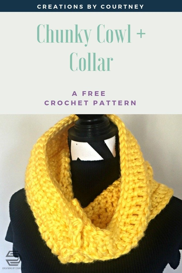 Chunky Cowl And Collar A Free Quick Crochet Pattern Crafts