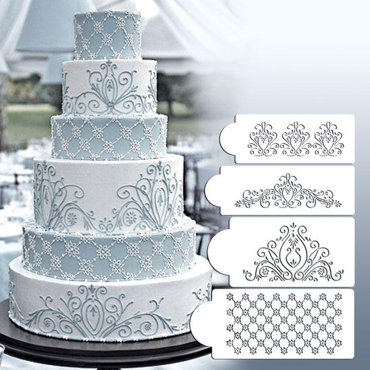 Princess Lace Cake Stencil Set, Cake Craft Stencils, Cake Border Stencils Set,decorating cake stencil ST-219