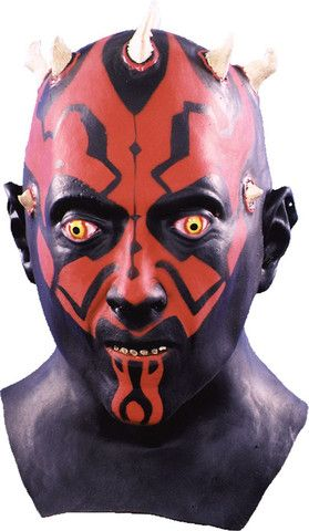 DARTH MAUL- Star Wars Deluxe Full Over The Head Realistic Halloween MASK