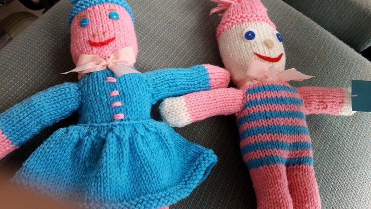 Knitted dolls by Norma and Susan