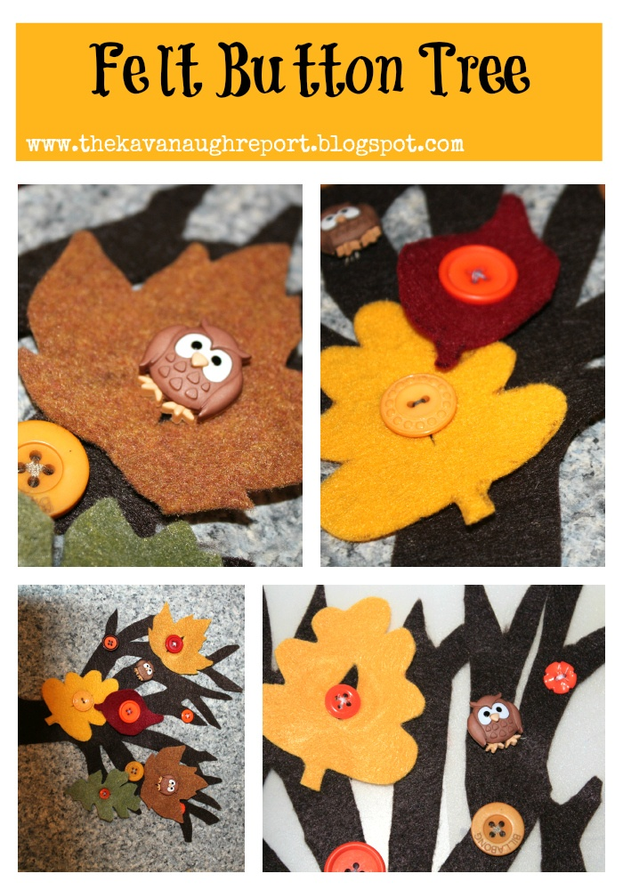Felt Button Tree - adorable! And great practice for young kids just learning to button!