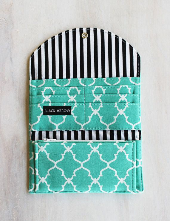 Cash Envelope Wallet, Quatrefoil Fabric, Dave Ramsey, Cash System, Personalized…