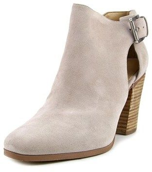 MICHAEL Michael Kors Adams Bootie Women Round Toe Suede Nude Ankle Boot.