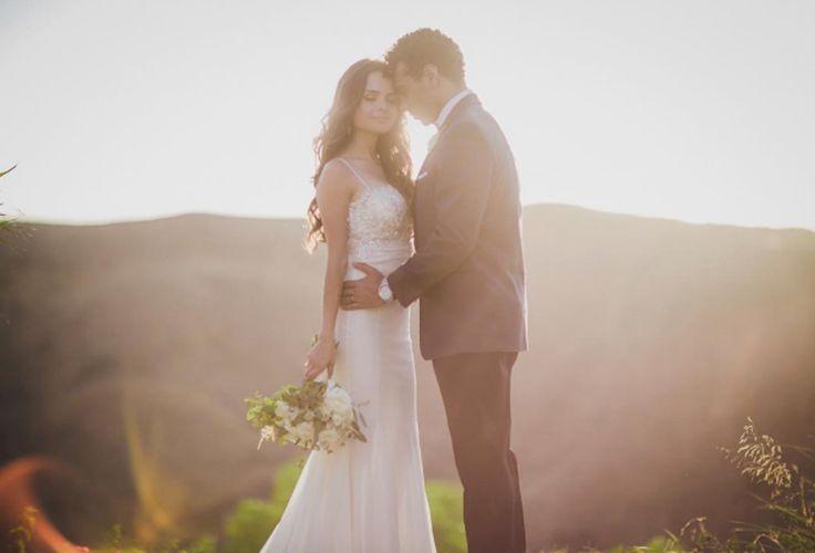 High School Musical star Corbin Bleu and Sasha Clements wedding took place at Hummingbird Nest Ranch. The bride wore a custom wedding dress by Pnina Tornai.