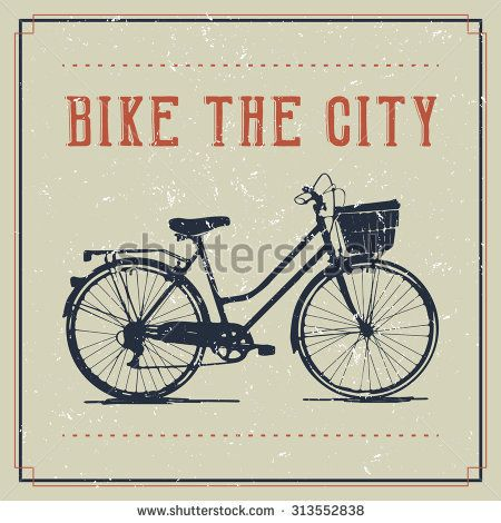 Vintage poster design with bicycle