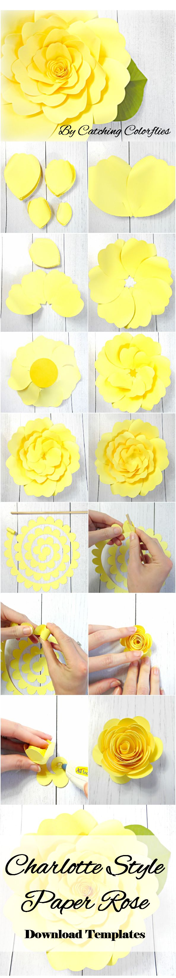 The 25 best paper flower templates ideas on pinterest paper giant paper flower tutorial with templates diy paper flower templates paper flower svg files dhlflorist Choice Image