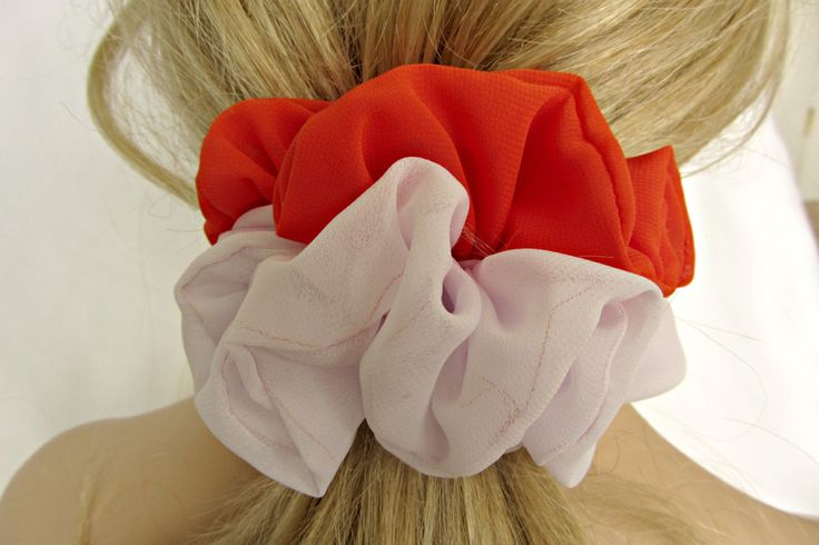 Team Color Accessories for Hair in Orange and White by MyHomeTeam on Etsy