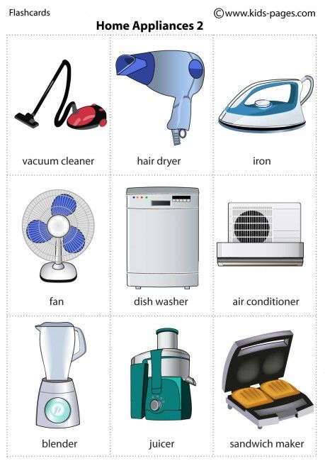 Kids Pages Home Appliances 2 Learn English Pinterest
