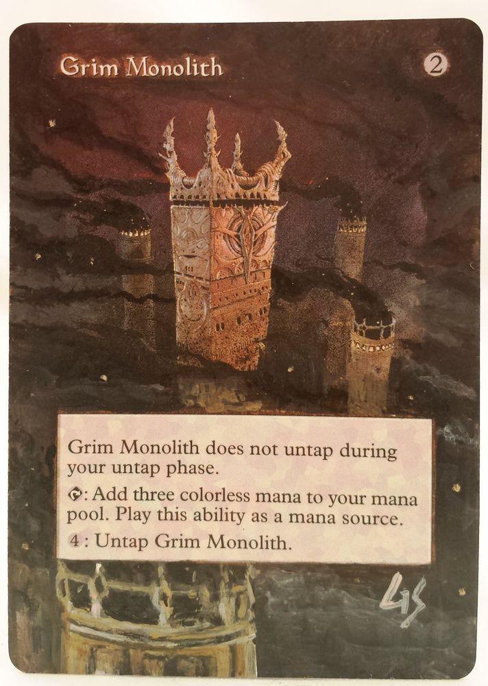 Grim Monolith World Champs MTG Magic Altered Art Custom Hot Sexy Pimp OOAK OOP #WizardsoftheCoast