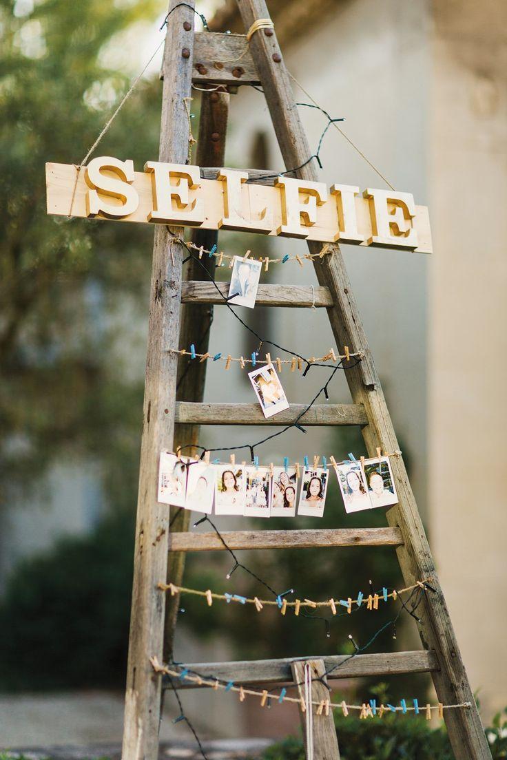 DIY selfie photo display ladder
